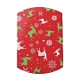 Christmas Gift Card Pillow Boxes, for Holiday Gift Giving, Candy Boxes, Xmas Craft Party Favors, Red, 16.5x13x4.2cm