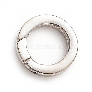 304 bagues à ressort en acier inoxydable, o bagues, couleur inox, 20x3.5 mm; diamètre intérieur: 13 mm(STAS-I133-14E)