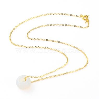 Rondelle Opalite Pendant Necklaces(NJEW-JN03237-04)-2