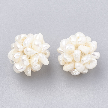14mm Seashell Round Pearl Beads