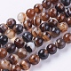 Round Dyed Natural Striped Agate/Banded Agate Beads Strands(X-G-G582-8mm-04)-1
