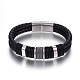 Leather Braided Cord Bracelets(BJEW-E352-36P)-1