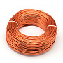 Aluminum Wire, Flexible Craft Wire, for Beading Jewelry Doll Craft Making, OrangeRed, 17 Gauge, 1.2mm; 140m/500g(459.3feet/500g)
