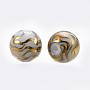 Gold Round Glass Beads(EGLA-S173-06G)