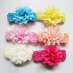 Эластичные детские повязки, цветочные повязки для девочек-младенцев, разноцветные, 100 мм(OHAR-S114-M04)