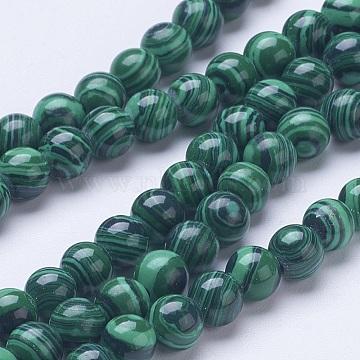 6mm DarkGreen Round Malachite Beads