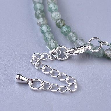 Natural Strawberry Quartz Beaded Necklaces(NJEW-K114-A-A13)-3