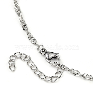 304 Stainless Steel Singapore Chain Necklaces(NJEW-JN02930-02)-3