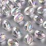 Clear AB Oval Acrylic Beads(TACR-S156-003B)