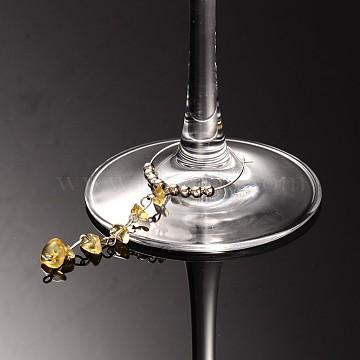 Citrine Wine Glass Charms