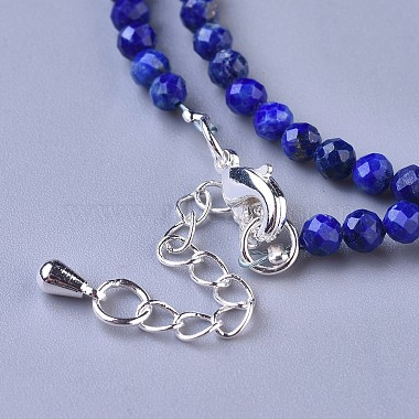 Natural Lapis Lazuli Beaded Necklaces(NJEW-K114-A-A06)-3