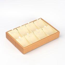 Rectangle en carton bijoux plateaux d'affichage, pendentifs affichage, environ15 cm de large, 22.5 cm de long, 3 cm de haut(BC104)