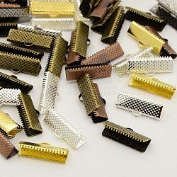 Embouts ruban de fer mixte, couleur mixte, 16x8mm, Trou: 1mm(E183-M)