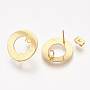 Golden Stainless Steel Stud Earrings(X-STAS-S079-50)