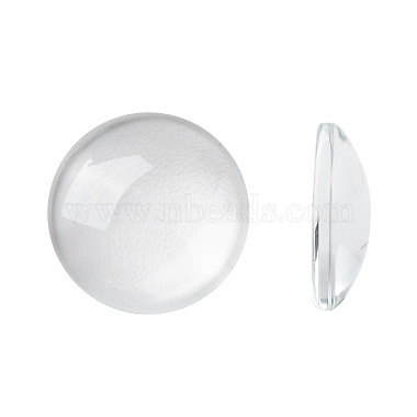 16mm Clear Flat Round Glass Cabochons