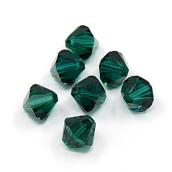 Austrian Crystal Beads Loose Beads, 8mm 205_Emerald 5301_Bicone, 8x8mm, Hole: 1mm(X-5301-8mm205)