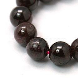 "Perles en pierres gemme, grenat naturel, rond, DarkRed, 4mm, trou: 0.5mm; environ 46 pcs/chapelet, 8.5""(G-G099-4mm-36)"