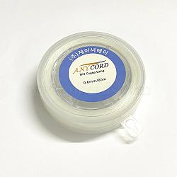 Korean Elastic Crystal String, Elastic Beading Thread, for Stretch Bracelet Making, Clear, 1.5mm, about 10.93 yards(10m)/roll(EW-G009-01-1.5mm)