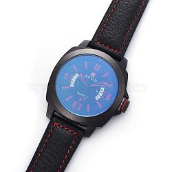 наручные часы высокого качества, кварцевые часы, Головка из сплава и ремешок из искусственной кожи, красный, 10-1 / 4 (26.1 см); 20x3 мм; головка часов: 46x50.5x13 мм(WACH-I017-05A)