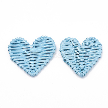 51mm SkyBlue Heart Others Beads