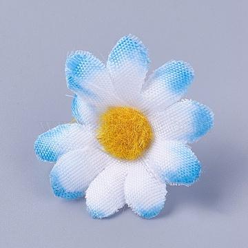 SkyBlue Flower Silk Decoration