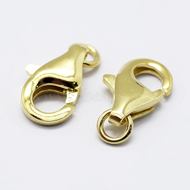925 Sterling Silver Lobster Claw Clasps(X-STER-K167-074B-G)-1