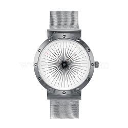Стильный высокого качества из нержавеющей стали 304 кварцевые наручные часы, металлический черный , 240x20 мм; голова часов : 47x44x8 мм; лицо часов : 34 мм(WACH-N052-07B)