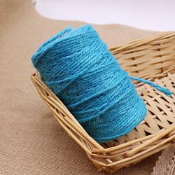 Ficelle de corde de chanvre, pour la fabrication de bijoux, bleu foncé, 3 mm; environ 50 m/rouleau(OCOR-L039-C11)