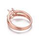 Environmental Brass Finger Ring Components(MAK-F030-10RG-NR)-3