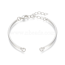 Brass Bracelet Making, Platinum, 4-3/8inches~6-3/4inches(11.3~17cm), Hole: 3mm(X-KK-T029-157P)