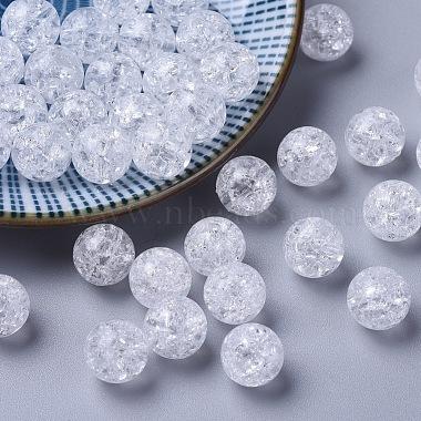 10mm White Round Acrylic Beads