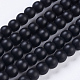 Synthetic Black Stone Bead Strands(X-G-R345-6mm-38-1)-1