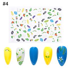 Autocollants d'ongle, auto-adhésif, autocollant, pour les décorations d'ongles, motif de feuille, colorées, 9.5x6.5 cm(MRMJ-Q066-XF3228)