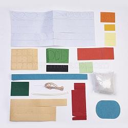 Set à sushis fait main en tissu non tissé, matériau de coupe libre diy paquet, pour les jouets d'enfants, colorées, 5.55~43.8x3.4~18.5x0.08 cm(DIY-L008-01)