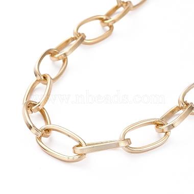 Aluminium Paperclip Chain Necklaces(X-NJEW-JN02865)-3