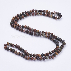 многоцелевые ожерелья / браслеты из натурального камня пикассо с бисером, три-четыре петли браслеты, счеты, 37.4 (95 см)(NJEW-K095-B04)