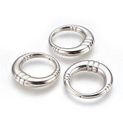 Пластмассовые подвески ccb, кольцо, платина, 36x3~6.5 мм, отверстие : 1 мм(CCB-P008-09)