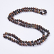 Natural Picasso Stone Beaded Multi-use Necklaces/Wrap Bracelets(NJEW-K095-B04)-1