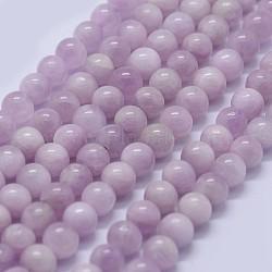"Chapelets perles en kunzite/spodumène naturelle, grade AAA, rond, 6mm, trou: 0.8mm; environ 65 pcs/chapelet, 15.5""(G-K285-01-6mm)"