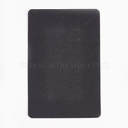 Cartes d'affichage en carton, utilisé pour collier et boucle d'oreille, noir, 9x6 cm(CDIS-WH0005-04C)