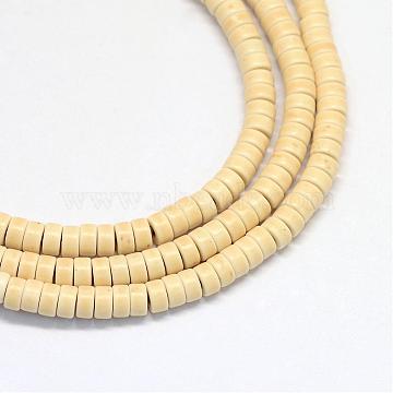4mm PeachPuff Disc Howlite Beads