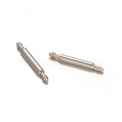 Stainless Steel Double Flanged Spring Bar Watch Strap Pins, Stainless Steel Color, 12x1.5mm(STAS-M231-02)