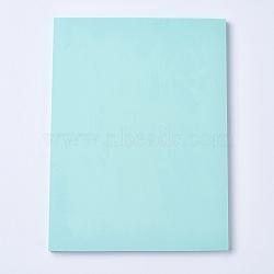 Gravure bricolage timbre en caoutchouc sculpté à la main, brique en caoutchouc à la main, rectangle, paleturquoise, 150x200x7mm(DIY-WH0116-06A)
