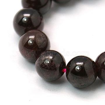 4mm DarkRed Round Garnet Beads