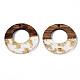 pendentifs en résine transparente et bois de noyer(RESI-S389-036A-B05)-2