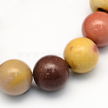 Natural Mookaite Round Beads Strands, 10.5mm, Hole: 1.2mm; about 36pcs/strand, 15.7inches(G-S185-10mm)