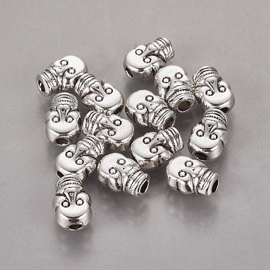 Античное серебро хэллоуин ювелирные изделия тибетского серебра сплава черепа бусы(X-AB321-NF)-2