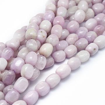 Natural Kunzite Beads Strands, Spodumene Beads, Drum, 10~13x8~10mm, Hole: 1mm; about 36pcs/strand, 16.14''(41cm)(G-D0010-17B)