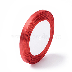 """Ruban satin de sac de boîte de cadeau de Saint-Valentin, rouge, 1/4"""" (7 mm) de large, 25yards / roll (22.86m / roll)(X-RC012-26)"""