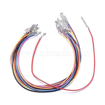 2mm Mixed Color Imitation Leather Necklace Making